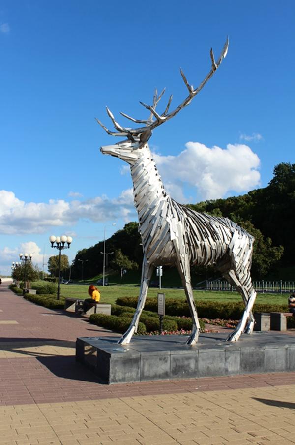 Арт-объект на Нижневолжской набережной